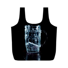 Glass Water Liquid Background Full Print Recycle Bags (M)