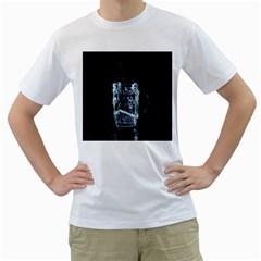 Glass Water Liquid Background Men s T Shirt (white)