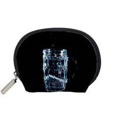 Glass Water Liquid Background Accessory Pouches (small)