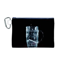 Glass Water Liquid Background Canvas Cosmetic Bag (m)