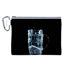 Glass Water Liquid Background Canvas Cosmetic Bag (L)