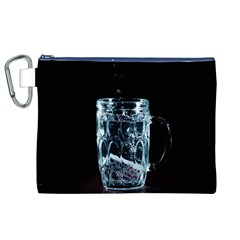 Glass Water Liquid Background Canvas Cosmetic Bag (xl)