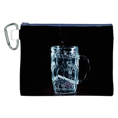 Glass Water Liquid Background Canvas Cosmetic Bag (xxl)