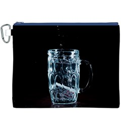 Glass Water Liquid Background Canvas Cosmetic Bag (XXXL)