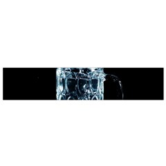 Glass Water Liquid Background Flano Scarf (small)