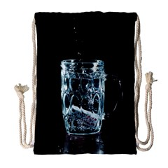 Glass Water Liquid Background Drawstring Bag (Large)