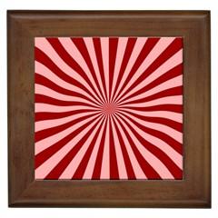 Sun Background Optics Channel Red Framed Tiles