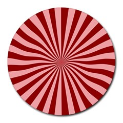 Sun Background Optics Channel Red Round Mousepads