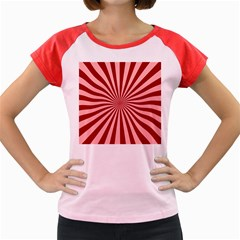 Sun Background Optics Channel Red Women s Cap Sleeve T-Shirt