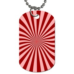 Sun Background Optics Channel Red Dog Tag (two Sides)