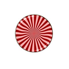 Sun Background Optics Channel Red Hat Clip Ball Marker