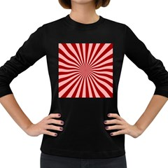 Sun Background Optics Channel Red Women s Long Sleeve Dark T Shirts