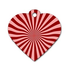 Sun Background Optics Channel Red Dog Tag Heart (two Sides)