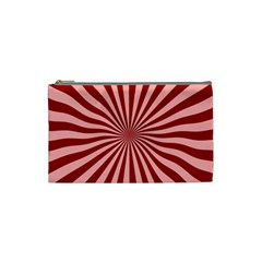 Sun Background Optics Channel Red Cosmetic Bag (small)