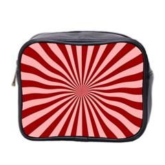 Sun Background Optics Channel Red Mini Toiletries Bag 2 Side