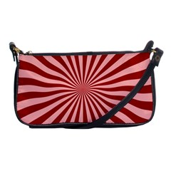Sun Background Optics Channel Red Shoulder Clutch Bags