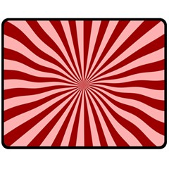Sun Background Optics Channel Red Fleece Blanket (medium)