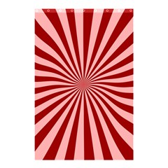 Sun Background Optics Channel Red Shower Curtain 48  X 72  (small)