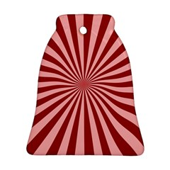 Sun Background Optics Channel Red Ornament (bell)
