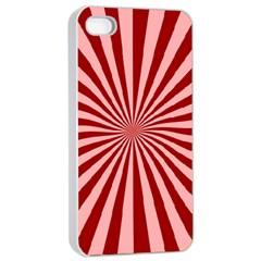 Sun Background Optics Channel Red Apple iPhone 4/4s Seamless Case (White)