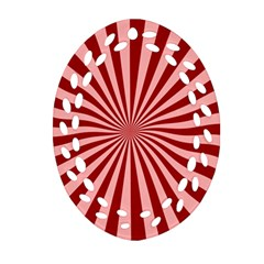 Sun Background Optics Channel Red Ornament (oval Filigree)