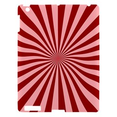 Sun Background Optics Channel Red Apple Ipad 3/4 Hardshell Case