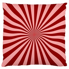 Sun Background Optics Channel Red Large Cushion Case (Two Sides)