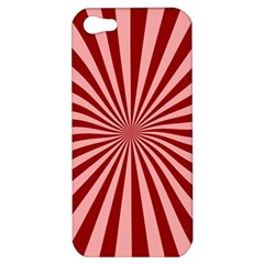 Sun Background Optics Channel Red Apple iPhone 5 Hardshell Case