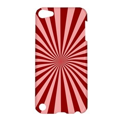 Sun Background Optics Channel Red Apple Ipod Touch 5 Hardshell Case