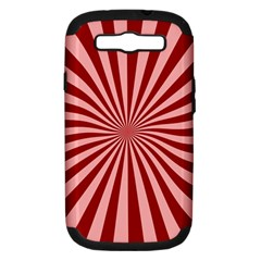 Sun Background Optics Channel Red Samsung Galaxy S III Hardshell Case (PC+Silicone)