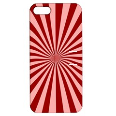 Sun Background Optics Channel Red Apple Iphone 5 Hardshell Case With Stand