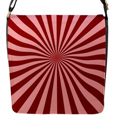 Sun Background Optics Channel Red Flap Messenger Bag (S)