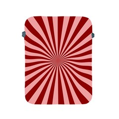Sun Background Optics Channel Red Apple Ipad 2/3/4 Protective Soft Cases