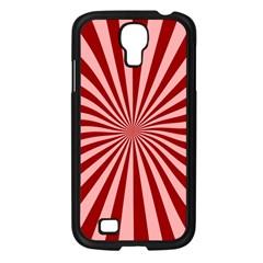 Sun Background Optics Channel Red Samsung Galaxy S4 I9500/ I9505 Case (Black)