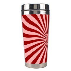 Sun Background Optics Channel Red Stainless Steel Travel Tumblers