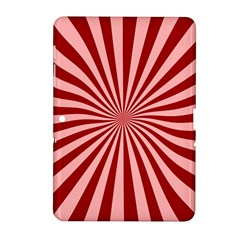 Sun Background Optics Channel Red Samsung Galaxy Tab 2 (10 1 ) P5100 Hardshell Case