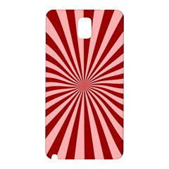 Sun Background Optics Channel Red Samsung Galaxy Note 3 N9005 Hardshell Back Case