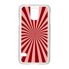 Sun Background Optics Channel Red Samsung Galaxy S5 Case (white)