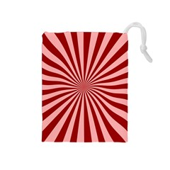 Sun Background Optics Channel Red Drawstring Pouches (Medium)