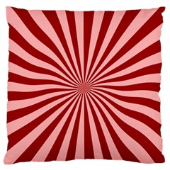Sun Background Optics Channel Red Large Flano Cushion Case (Two Sides)
