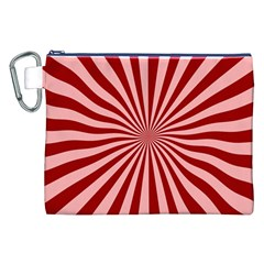 Sun Background Optics Channel Red Canvas Cosmetic Bag (XXL)