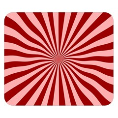 Sun Background Optics Channel Red Double Sided Flano Blanket (Small)
