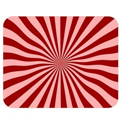Sun Background Optics Channel Red Double Sided Flano Blanket (Medium)