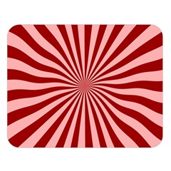 Sun Background Optics Channel Red Double Sided Flano Blanket (Large)