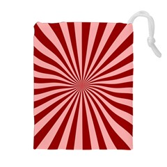 Sun Background Optics Channel Red Drawstring Pouches (extra Large)