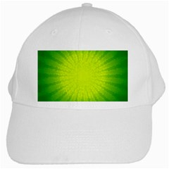Radial Green Crystals Crystallize White Cap