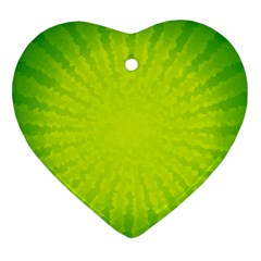 Radial Green Crystals Crystallize Ornament (heart)