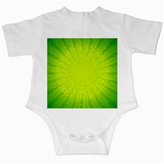 Radial Green Crystals Crystallize Infant Creepers