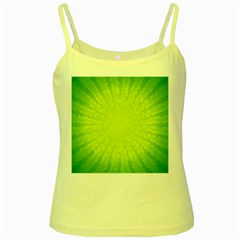 Radial Green Crystals Crystallize Yellow Spaghetti Tank