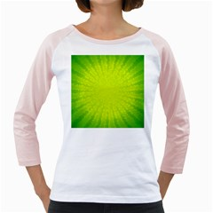 Radial Green Crystals Crystallize Girly Raglans